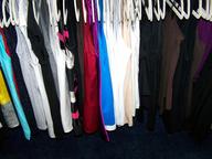 liquidation hanger of dresses shirts