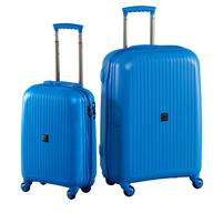 bulk hardside blue suitcase