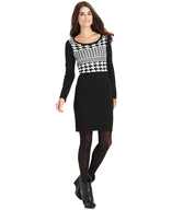 overstock hounds tooth dress
