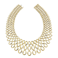 salvage ivanka gold necklace