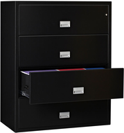 closeout lateral file cabinet black