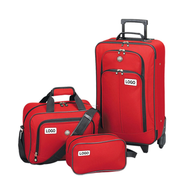 discount logo red luggage