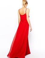 surplus mango red strappy maxi dress