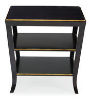clearance mayfair black gold night stand