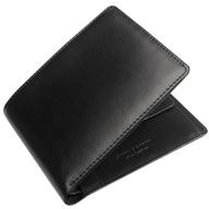 mens black leather wallet deals