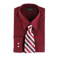 salvage mens dress shirt red