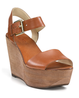 liquidation michael kors brown wedge