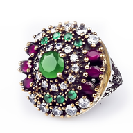 discount multi color ring