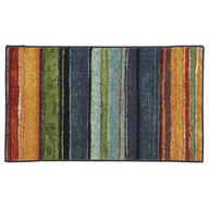 multi color rug shelf pulls