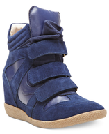 navy sneaker wedges closeouts