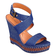 closeout nine west blue jean wedges