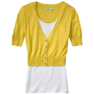old navy yellow jacket with top pallets