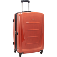 orange hardside luggage lots
