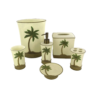 clearance palm tree bathroom accessories