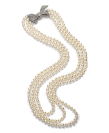 overstock pearl bow necklace