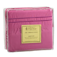 closeout pink bed sheet four pc set