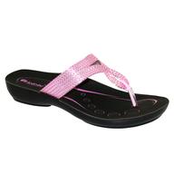 overstock pink black sandels
