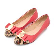 overstock pink cheetah flats