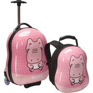 overstock pink crocs luggage