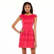 discount pink flare dress
