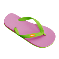 salvage pink green flipflops