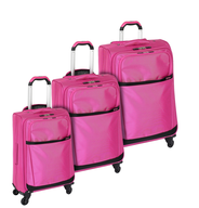 overstock pink multi luggage