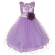 bulk purple childrens dress