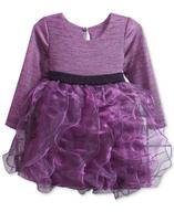 purple ruffle dress closeouts