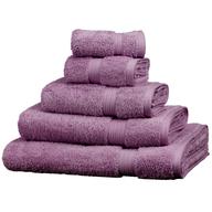 purple towels pallets