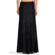 rachel zoe maxi skirt black liquidators