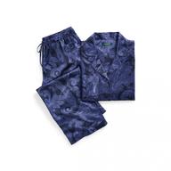 ralph lauren navy paisley satin pajama set womens pallets