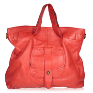 red leather bag shelf pulls