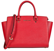 liquidation red michael kors handbag