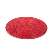 liquidation red pink round table mat