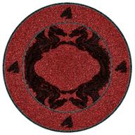 red round rug pallets