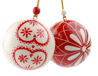 liquidation red white tree ornaments