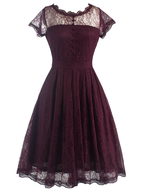 discount red womens dress