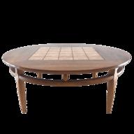 round walnut coffee table deals