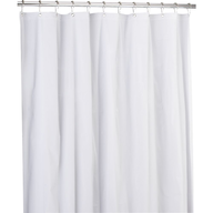 salvage shower curtain white