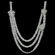 surplus silver diamond long necklace