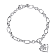 silver heart bracelet suppliers