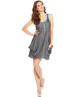 discount sleeveless scoop neck a line dress