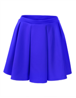 discount solid blue skirt