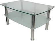 overstock square glass table