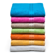 liquidation stack of colorful towels
