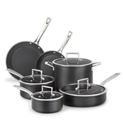 overstock stack of pots pans