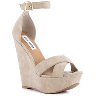 liquidation steve madden beige wedge