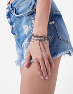 stradivarius embroidered denim shorts closeouts