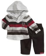 overstock striped hoodie set