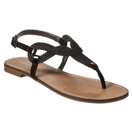 salvage target black sandals